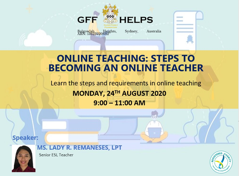 GFF HELPS Webinar: 'Steps to Becoming An Online Teacher'